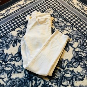 NWT Anthropologie white skinny jeans